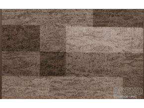 Moderní koberec běhoun Icona 44 hnědý