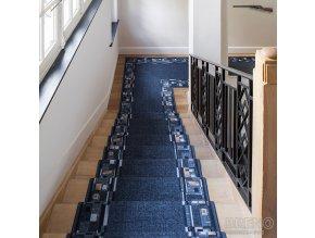 Moderní koberec běhoun Bombay 97 černý