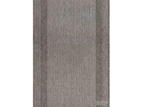 Moderní koberec bouclé běhoun Adria 01/GSG hnědý