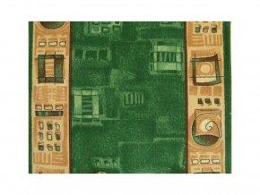 Moderní běhoun Zara 961 | zelený