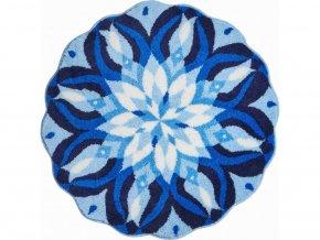 Koupelnová předložka Grund Mandala - Euphoria modrá