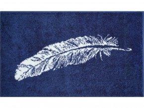 Koupelnová předložka Grund Piume | modrá (Typ 50x60 cm)