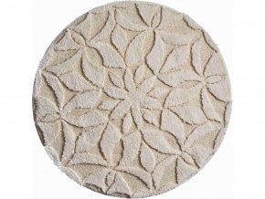 Koupelnová předložka Grund Mandala Bio - Secret | přírodní (Typ 100x100 cm kruh)