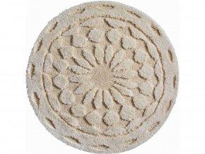 Koupelnová předložka Grund Mandala Bio - Infinity | přírodní (Typ 100x100 cm kruh)