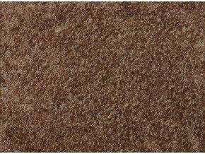 Metrážový koberec bytový Shine 98 hnědý - šíře 4 m (Šíře role Cena za 1 m2)