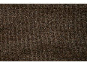 Metrážový koberec zátěžový Tweed 44 hnědý - šíře 4 m