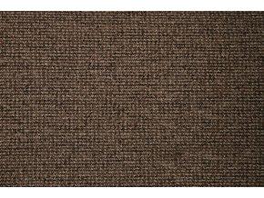 Metrážový koberec zátěžový Tweed 42 hnědý - šíře 4 m