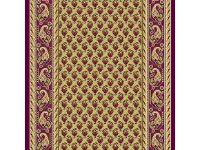 Klasický koberec běhoun Romance 8312 | vínový (Šíře role šíře 100 cm)