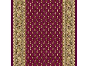 Klasický koberec běhoun Romance 8382 | vínový (Šíře role šíře 100 cm)