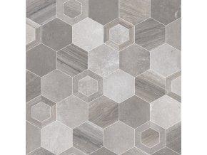 PVC bytové FORTEX GREY 2939 dekor keramický - šíře 4 m (Šíře role Cena za 1 m2)