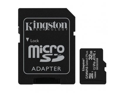 Paměťová karta Kingston Micro 32GB Class 10 UHS-I s adaptérem SD2