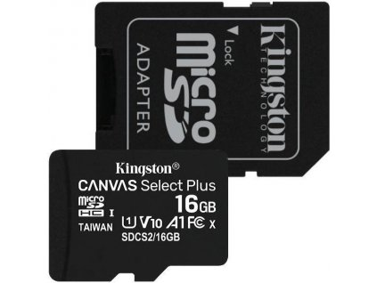 Paměťová karta Kingston Micro 16GB Class 10 UHS-I s adaptérem SD2