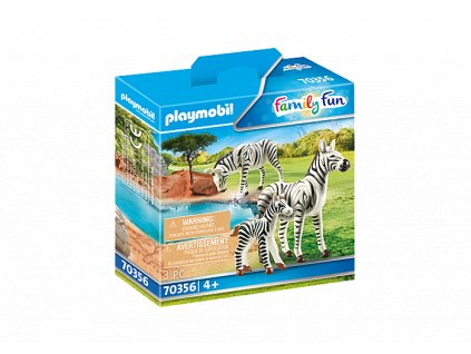Zebras with Foal