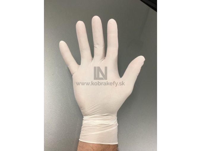 863 Nitrilové rukavice biele