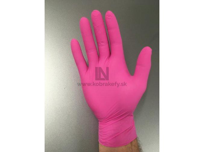 865 Nitrilové rukavice ružové