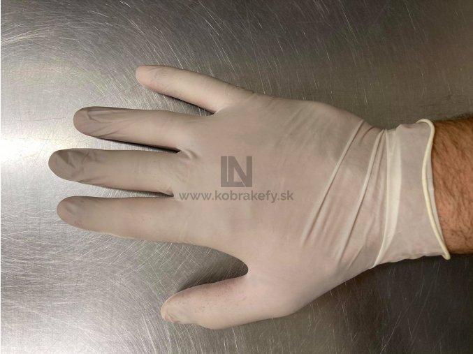 882 Latexové rukavice 48 cm dlhé biele