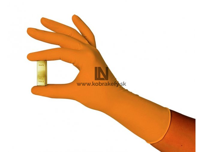 884 Nitrilové rukavice GRIP hrubé oranžové