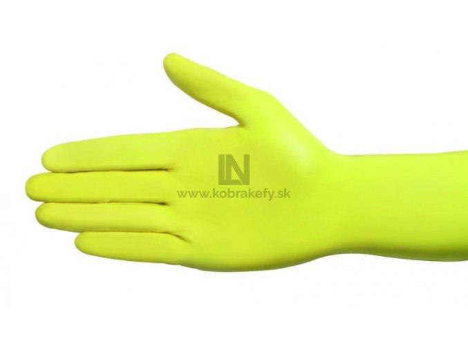 867 Nitrilové rukavice žlté