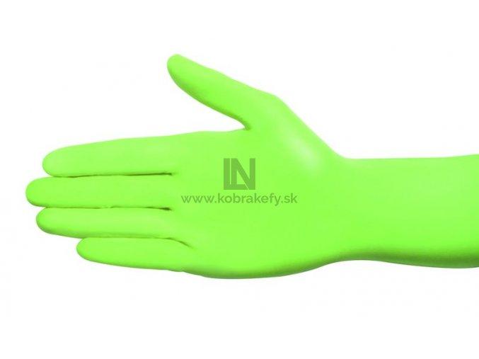 870 Nitrilové rukavice zelené