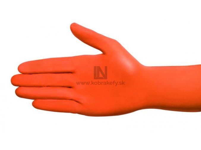 Nitrilova rukavica oranzova kobrakefy