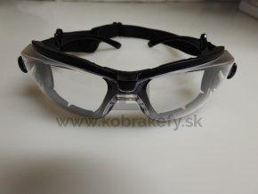 1207/1 Ochranné okuliare - číre návštevnícke s odjímateľnou gumičkou