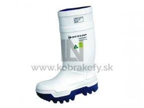 914-1 Gumená čižma Dunlop Purofort - Termo+ s oceľovou špicou biela