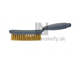 515 998 Kefa s rúčkou drôtená Mosadz 0,30 x 30 mm vlnitá štetina 4-radová 285 x 30 mm