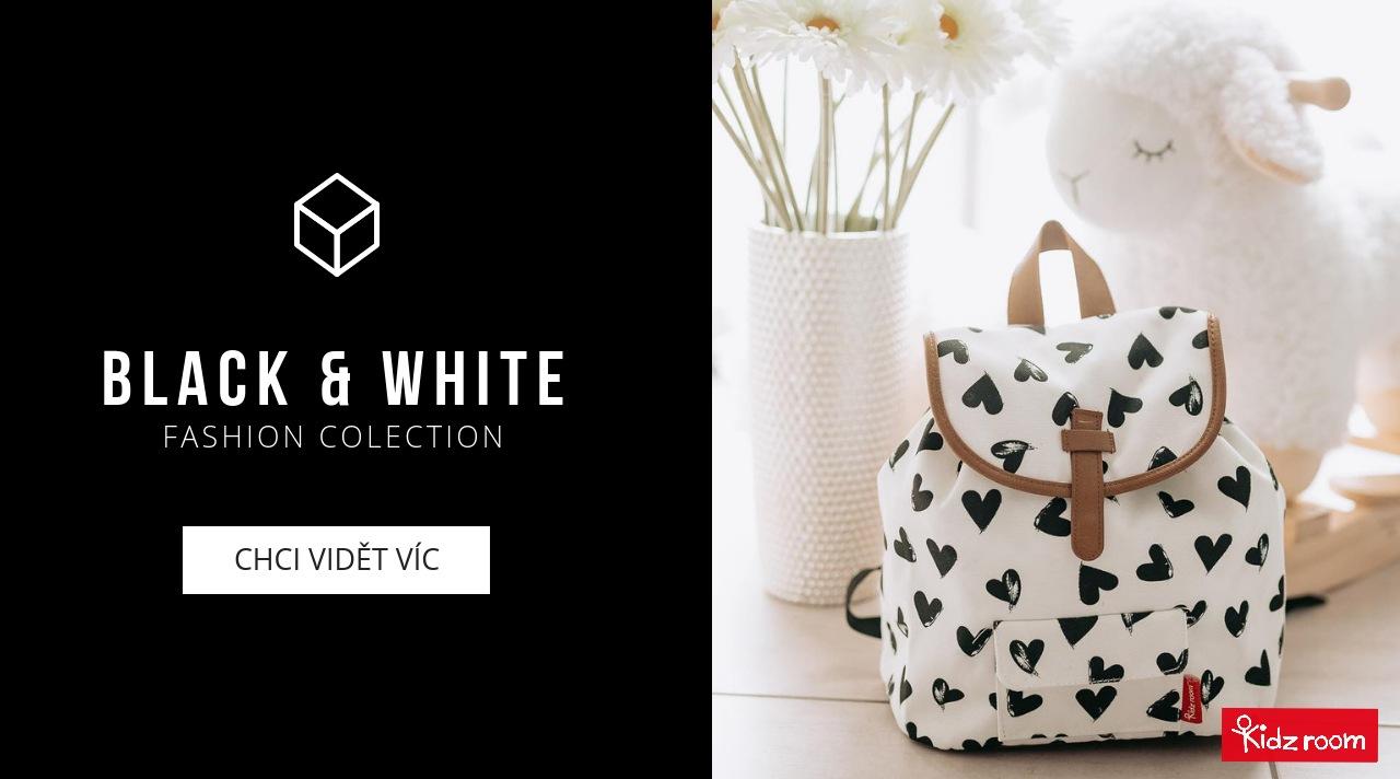 Dětské batohy Kidzroom Black & White