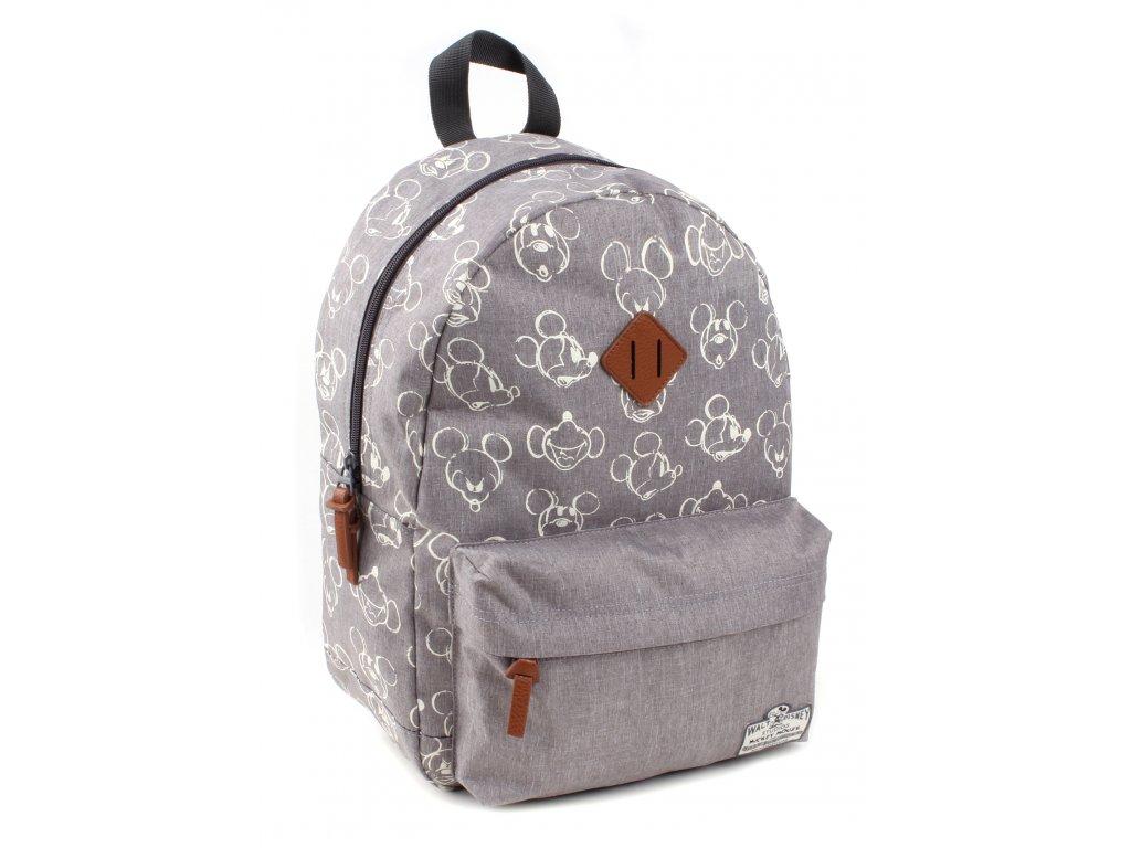 Dětský batoh Mickey Mouse 90th Anniversary velký šedý