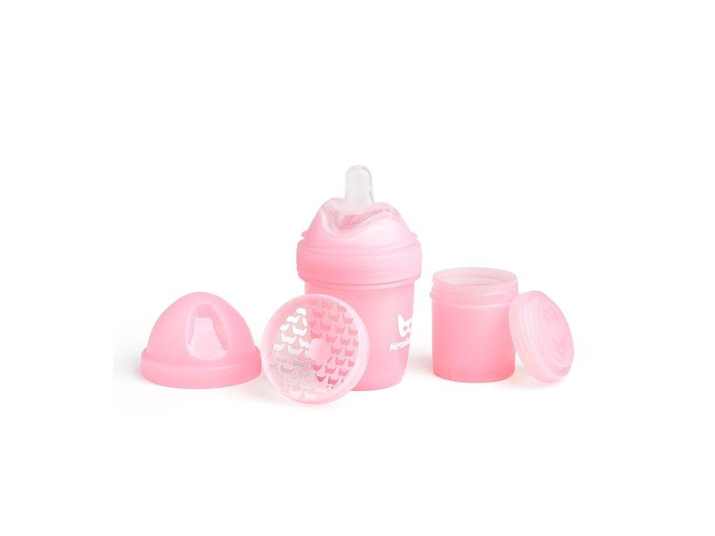 Herobility kojenecká láhev HeroBottle 140ml růžová 2