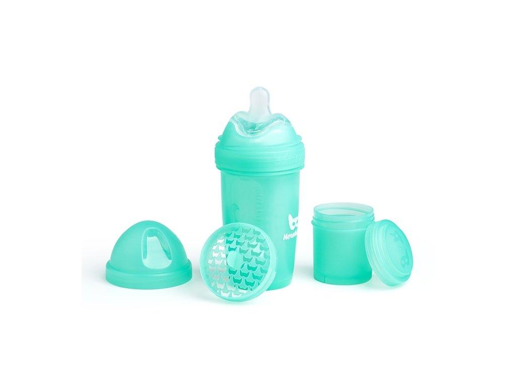 Herobility kojenecká láhev HeroBottle 240ml tyrkysová 2