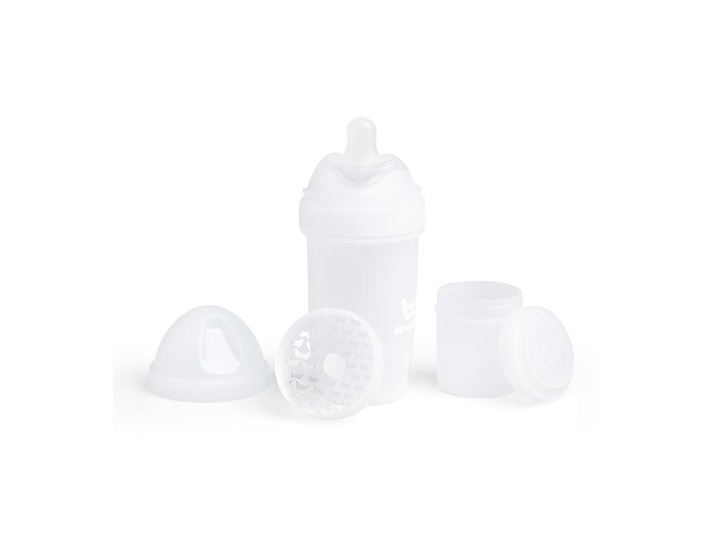 Herobility kojenecká láhev HeroBottle 240ml bílá