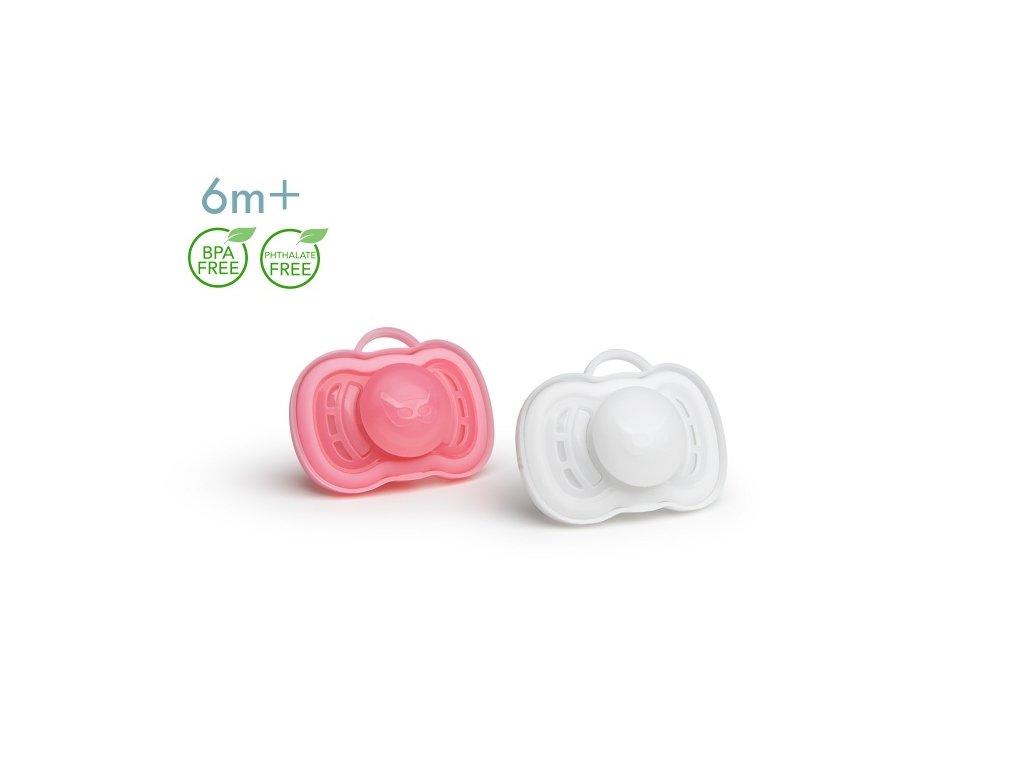 Herobility dudlík 6m 2ks Pink White