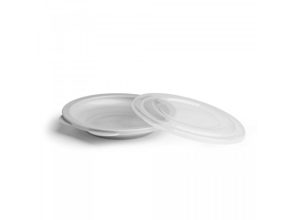 Herobility talíř dětský talířek na jídlo Eko šedý
