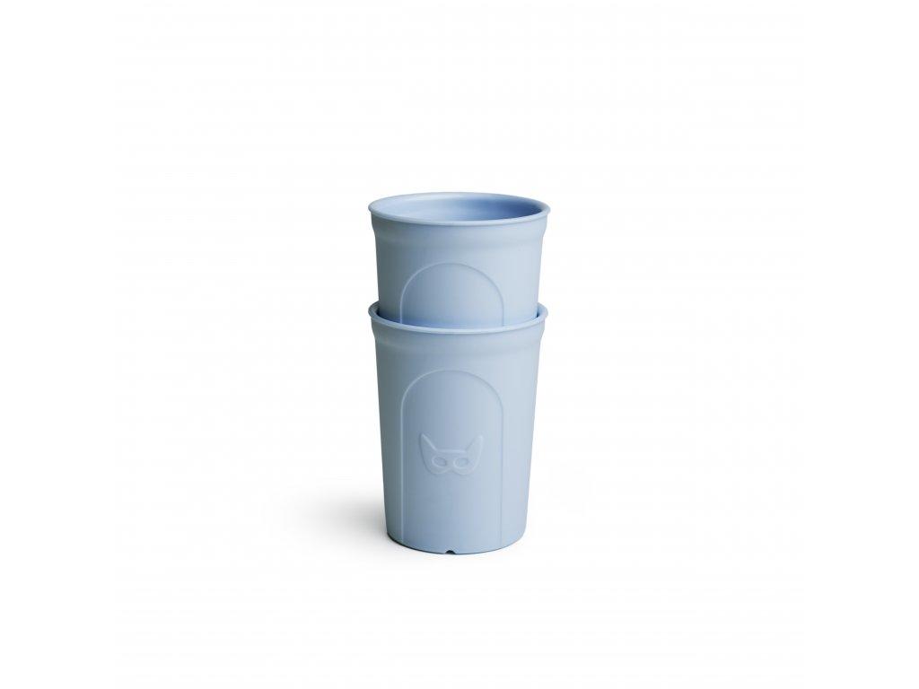 Herobility hrníček dětská sklenička Eko hrnek modrý