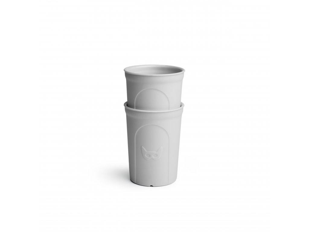Herobility hrníček dětská sklenička Eko hrnek šedý