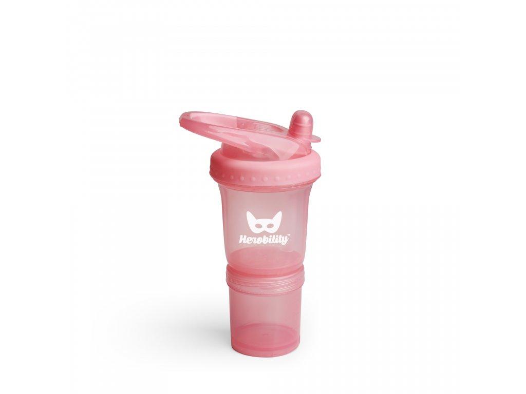 Dětská Sportovní láhev s brčkem 140ml růžová