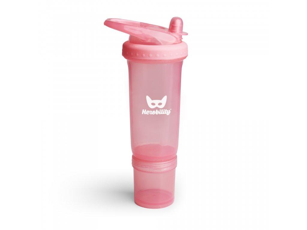 Dětská Sportovní láhev s brčkem 300ml růžová