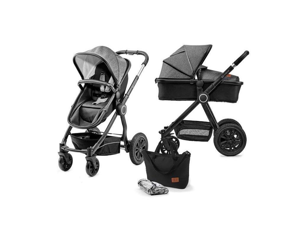 Kočárek kombinovaný Veo black/grey 2v1 Kinderkraft 2020