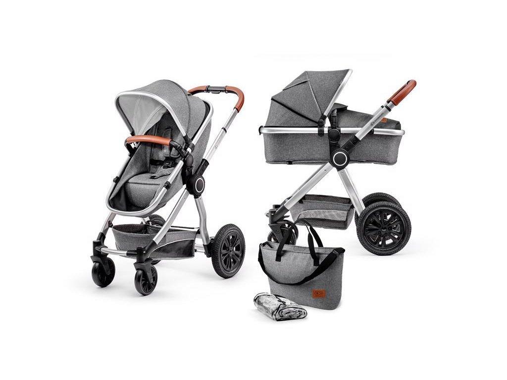 Kočárek kombinovaný Veo grey 2v1 Kinderkraft 2020
