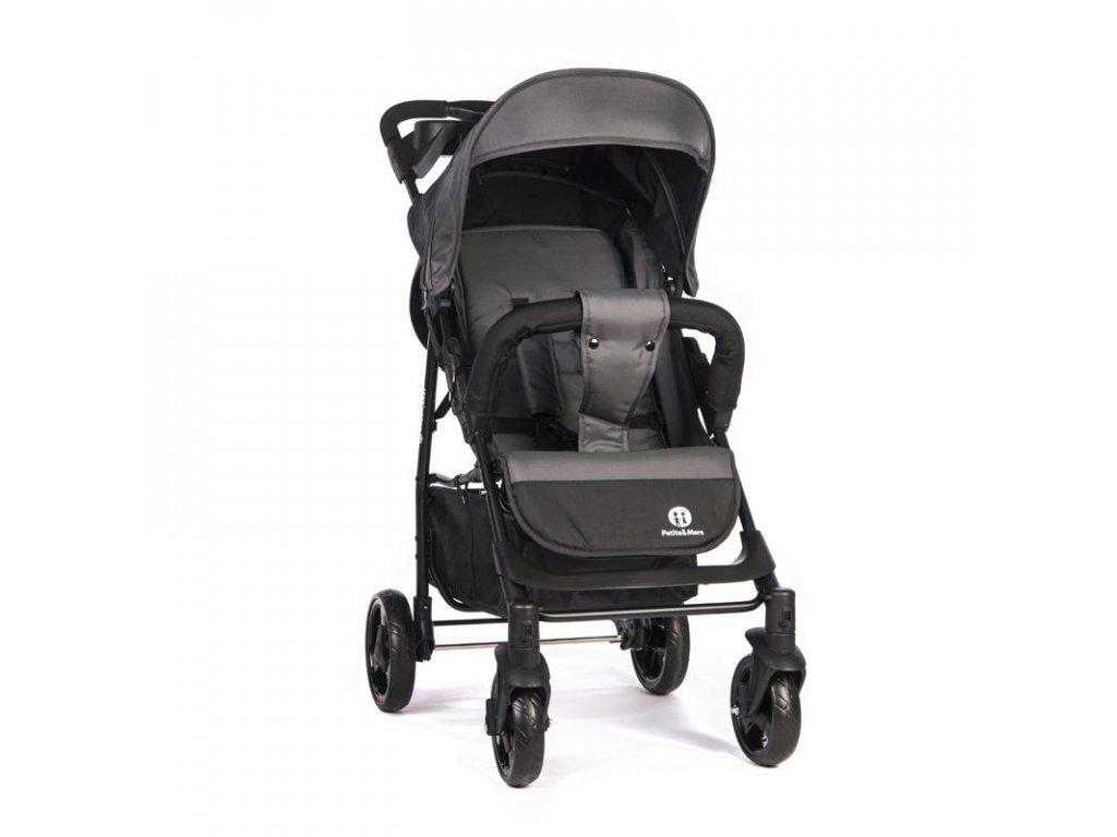 PETITE&MARS Kočárek sportovní Easy - Carbon Grey 2020