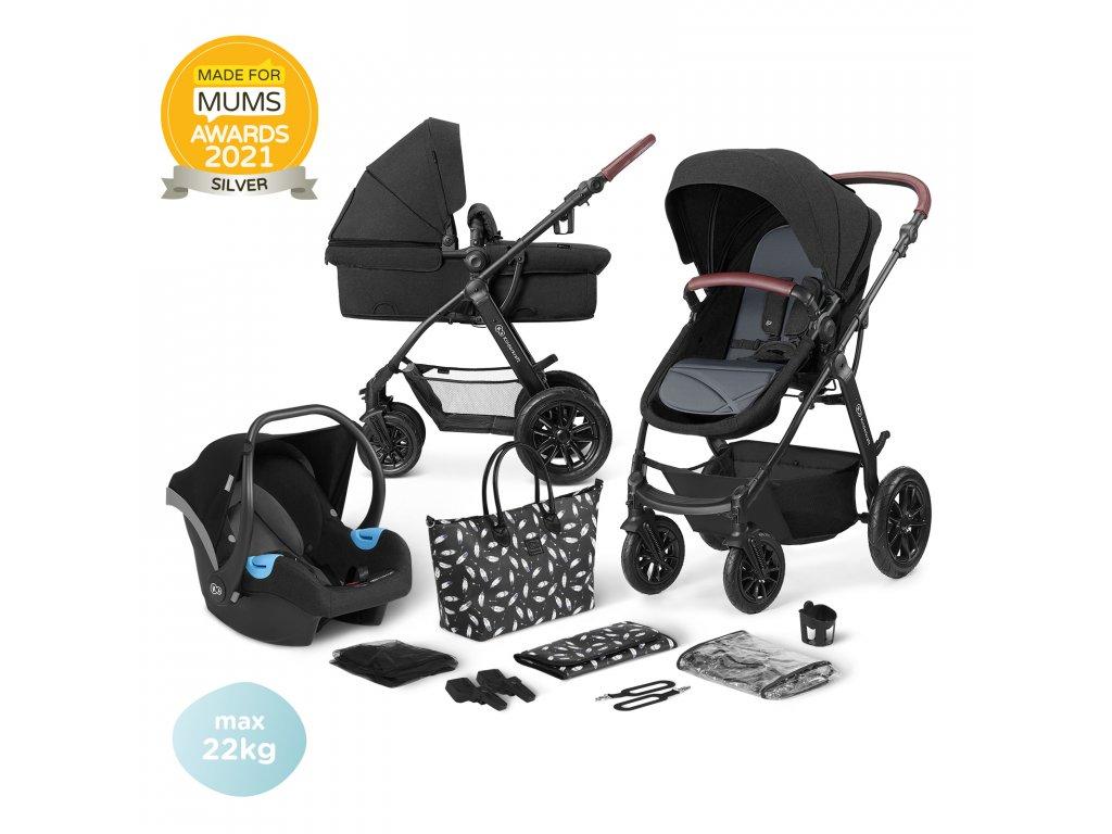 KINDERKRAFT Xmoov Kombinovaný kočárek 3v1 Black 2020
