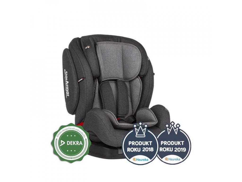PETITE&MARS Autosedačka Prime II (9-36 kg) - Isofix Grey 2020