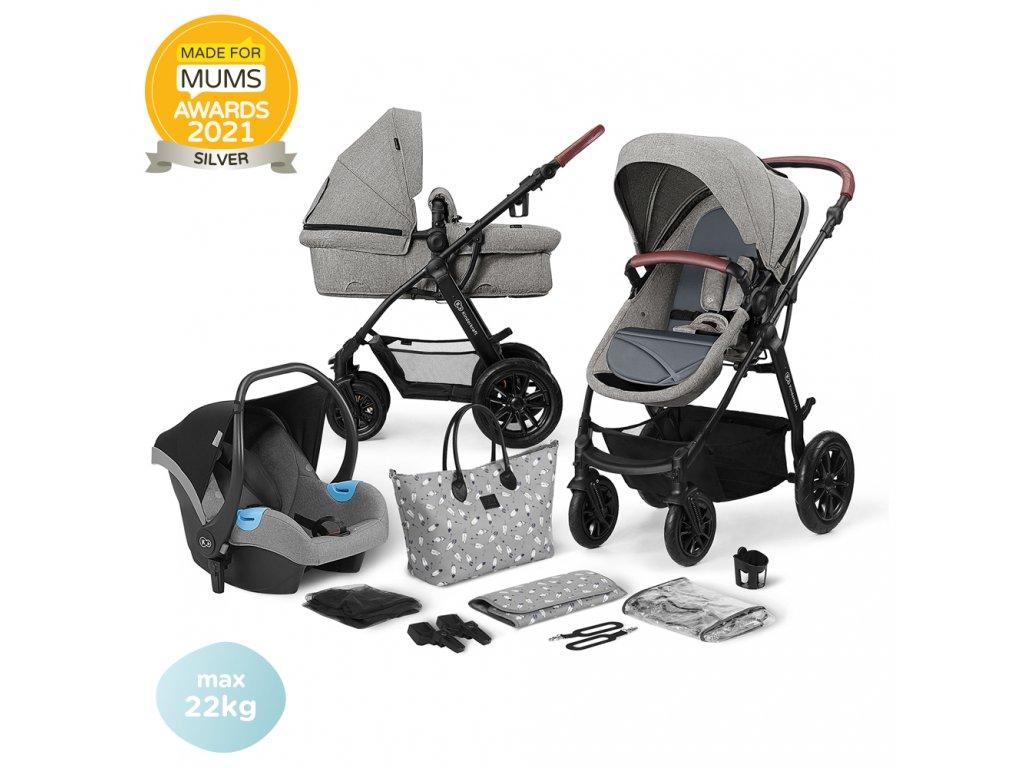KINDERKRAFT Xmoov Kombinovaný kočárek 3v1 Grey 2020