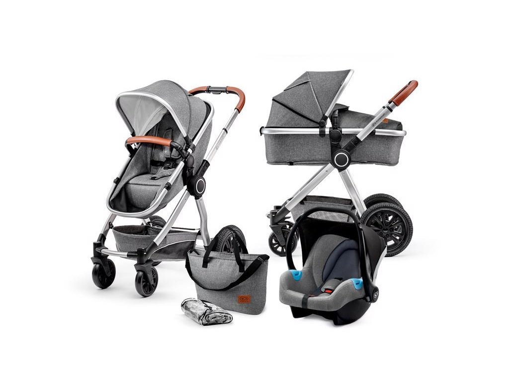 Kočárek kombinovaný Veo grey 3v1 Kinderkraft 2020