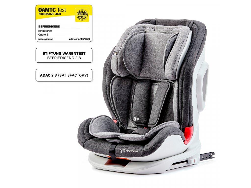 Autosedačka ONETO3 Isofix Black / Gray 9-36 kg Kinderkraft 2020