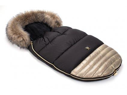 Zimní fusak do kočárku Cottonmoose Moose Zlatý Gold