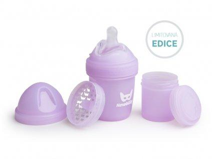 Herobility kojenecká láhev HeroBottle 140 ml fialová limited
