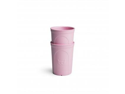 Herobility hrníček dětská sklenička Eko hrnek růžový