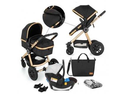PETITE&MARS Kočárek kombinovaný 3v1 Grand II Golden Ebony 2020